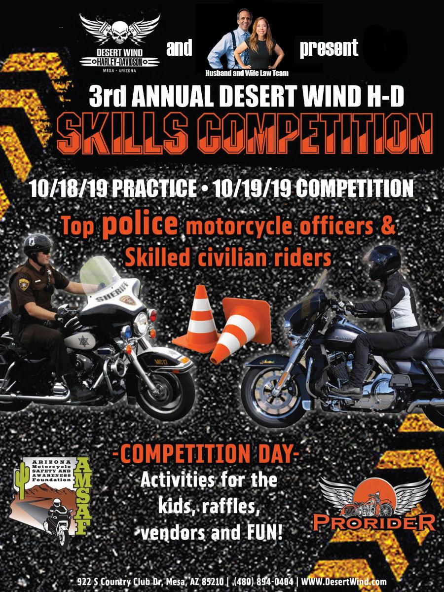Annual Desert Wind Harley Davidson Skills Competition Arizona Motorcycle Safety Awareness Foundation